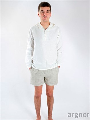 Короткие спортивные шорты из льна