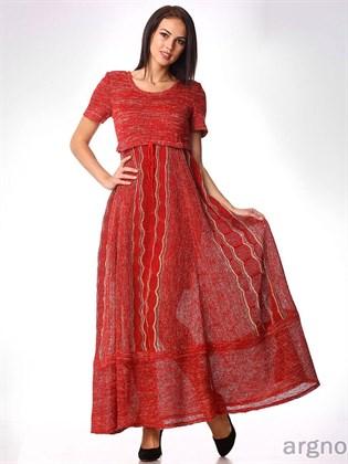Трикотажное платье из льна