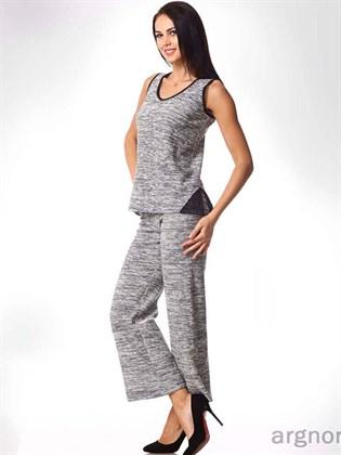 Трикотажные льняные брюки (меланж)