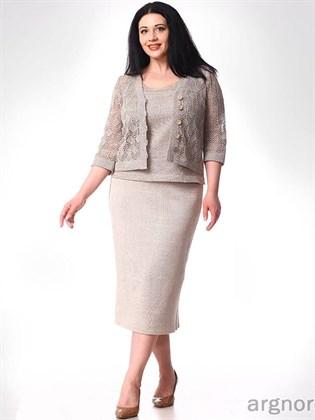 Прямая юбка из льняного трикотажа