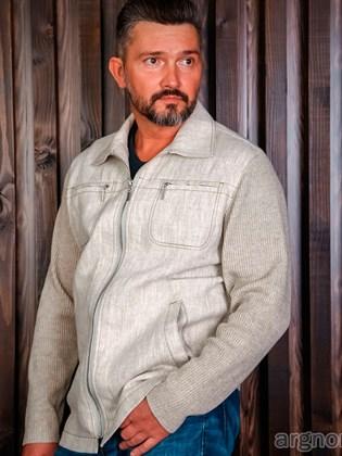 Мужская куртка из льна