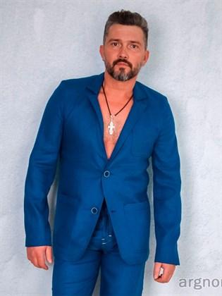 Мужской пиджак изо льна