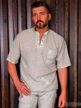 Мужская льняная футболка