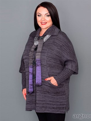 Вязаное пальто (полушерсть)
