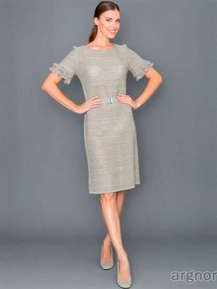 Платье льняное с коротким рукавом