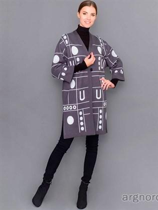 Женское пальто из полушерсти