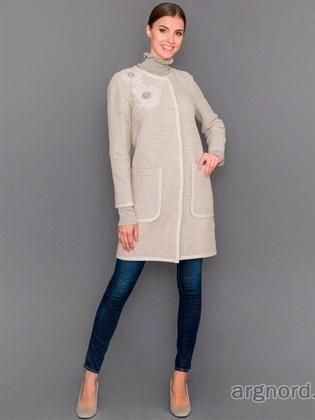 Пальто прямого кроя с карманами