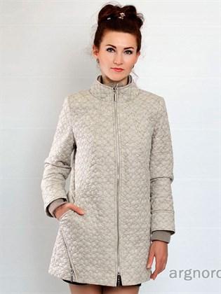 Пальто-куртка стеганое изо льна