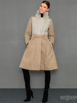 Пальто льняное с поясом