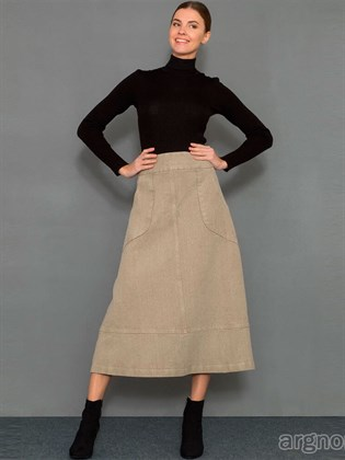 Льняная юбка А-силуэта