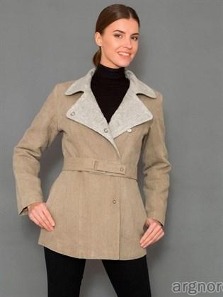 Льняная куртка с трикотажным воротником
