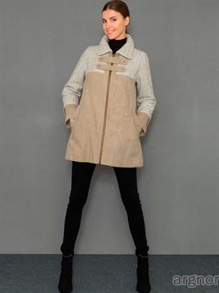 Куртка льняная с трикотажными вставками