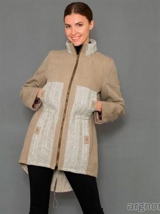 Женская куртка (лен, полушерсть)