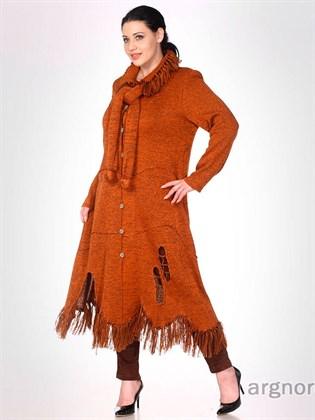 Пальто из льняной пряжи