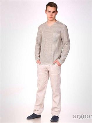 Мужские брюки изо льна