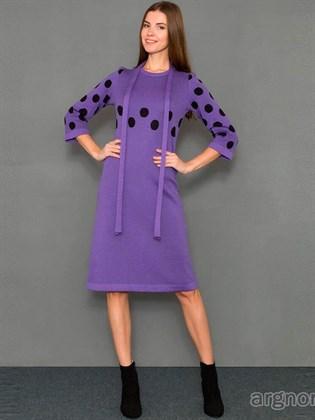 Платье из трикотажа (полушерсть)