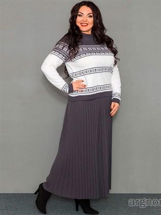 Длинная юбка из полушерсти