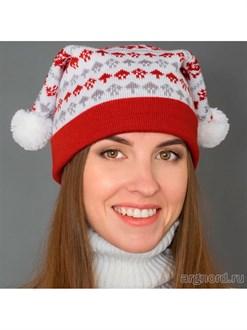 Вязаная шапка из полушерсти