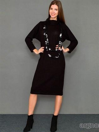 Трикотажное платье из полушерсти