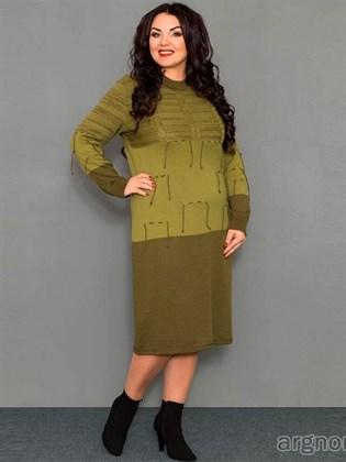 Платье трикотажное - полушерсть