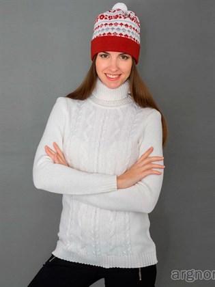 Джемпер белый из полушерсти