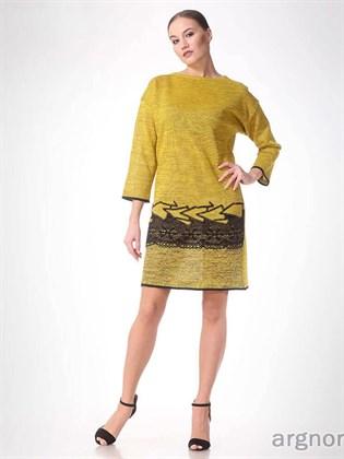 Платье вязаное прямое