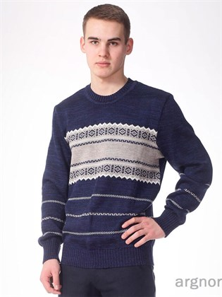 Зимний мужской джемпер из льна