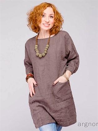 Блуза льняная свободного кроя