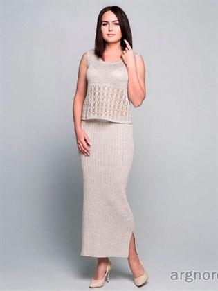 Длинная прямая юбка изо льна
