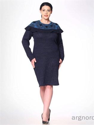 Трикотажное льняное платье
