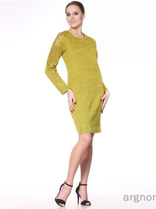Платье вязаное изо льна