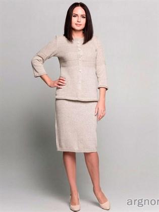 Прямая юбка изо льна