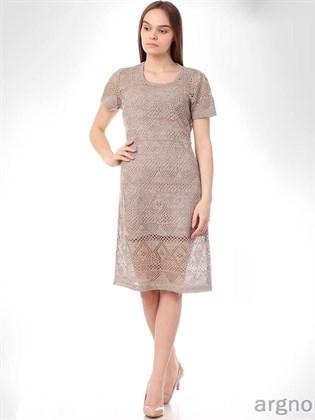 Платье вязаное из льна (с подкладкой)