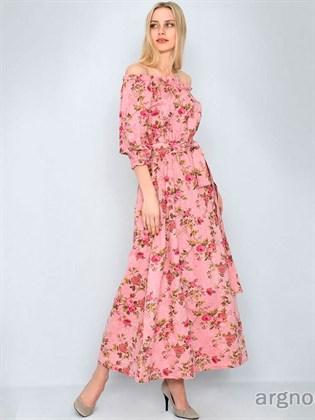 Длинное платье из натурального льна