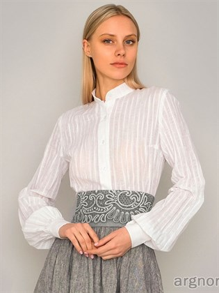 Блузка льняная
