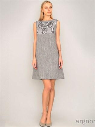 Платье льняное с кокеткой