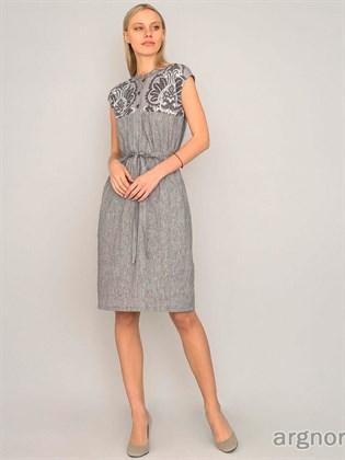 Платье женское изо льна