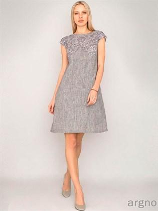 Платье с печатью кружево