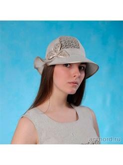 "Льняная женская шляпка ""Шарм"""