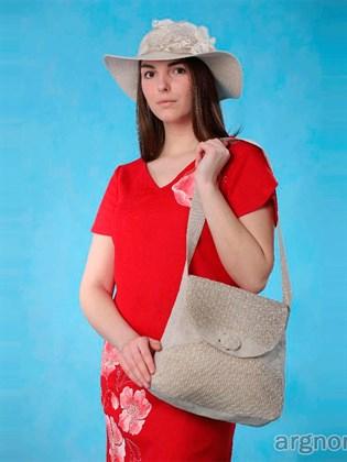Льняная сумка М