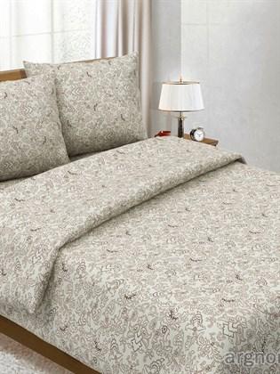 """Комплект постельного белья """"Узор коричневый""""- двухспальный"""