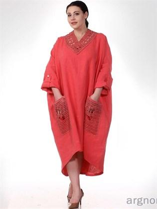 Платье из вареного льна