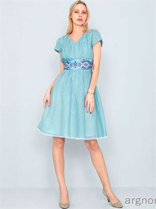 Женское платье из жатого льна