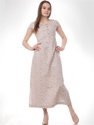 Платье из льняной ткани