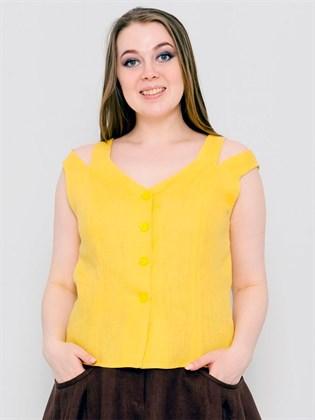 Летняя блуза изо льна