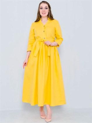 Платье длинное изо льна