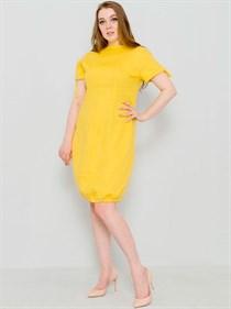 Льняное платье-баллон