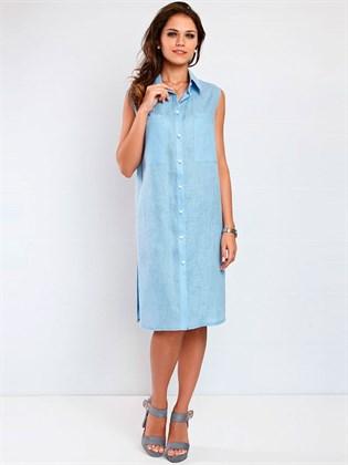Длинная блуза из льна с разрезами