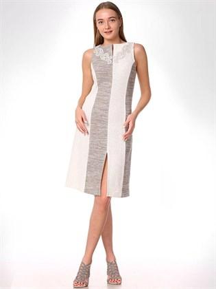 Платье льняное прямого кроя