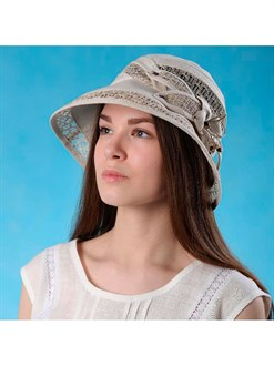 """Шляпка """"Мираж"""" из натурального льна"""